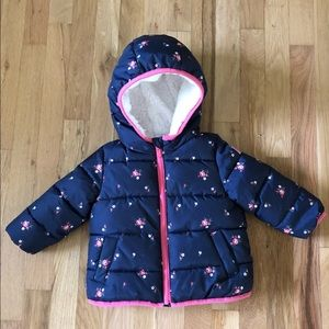 Baby GAP Fleece-Lined Puffer Coat